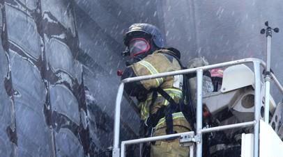 Площадь пожара в Электростали выросла до 3600 квадратных метров