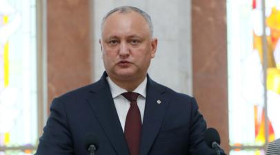 Додон обвинил Санду в дестабилизации ситуации в Молдавии