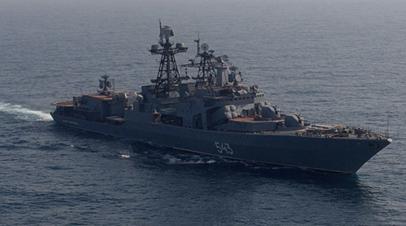 Модернизированный фрегат Тихоокеанского флота «Маршал Шапошников»