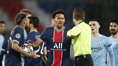 Маркиньос: ПСЖ пропустил два глупых мяча от Манчестер Сити