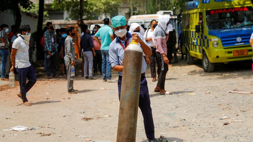 В Индии порядка 12 пациентов с коронавирусом погибли при пожаре в больнице