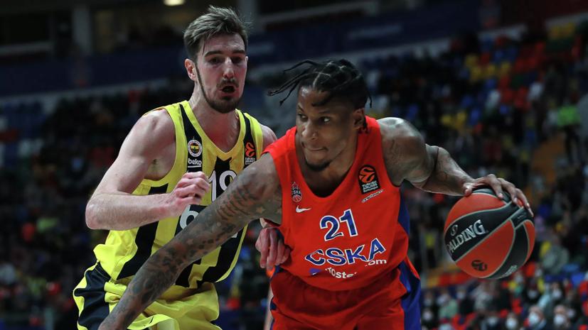 Баскетболист ЦСКА Клайберн назван лучшим игроком недели в Евролиге