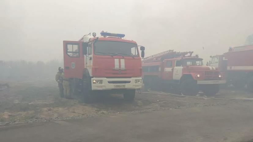 В Курганской области локализовали пожар в садовом кооперативе