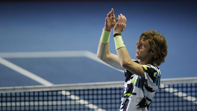 Рублёв и Хачанов вышли вовторой круг парного теннисного турнира вМадриде