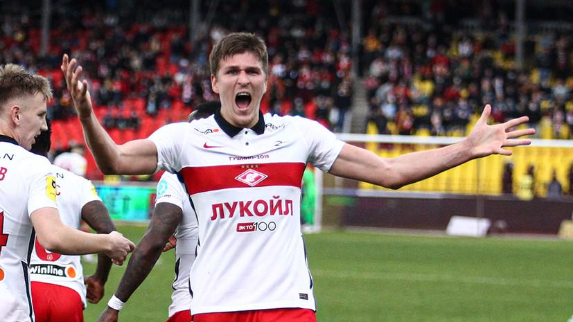 Соболев забил свой 13-й гол в текущем сезоне РПЛ и сравнялся по голам с Ларссоном