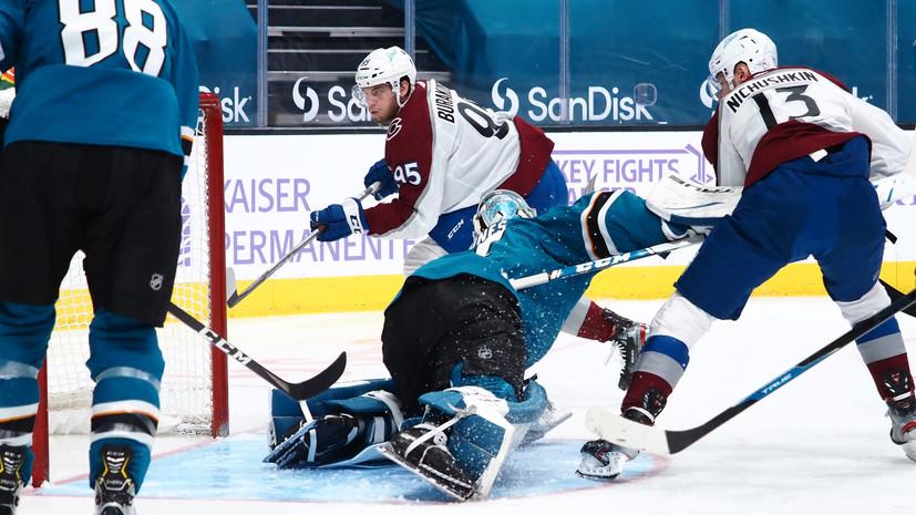 Гол Ничушкина и результативная передача Барабонова помогли Колорадо обыграть Сан-Хосе в НХЛ