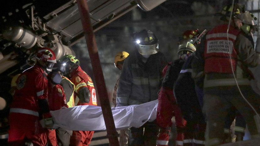 Число погибших при ЧП с поездом в метро Мехико возросло до 23