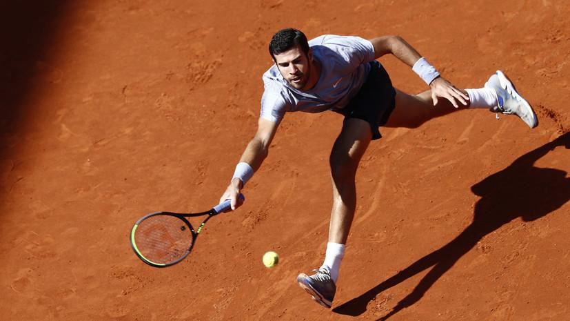 Хачанов проиграл Нисикори в первом раунде турнира ATP в Мадриде