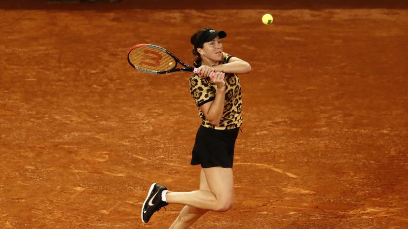 Павлюченкова проиграла Соболенко в полуфинале турнира WTA в Мадриде
