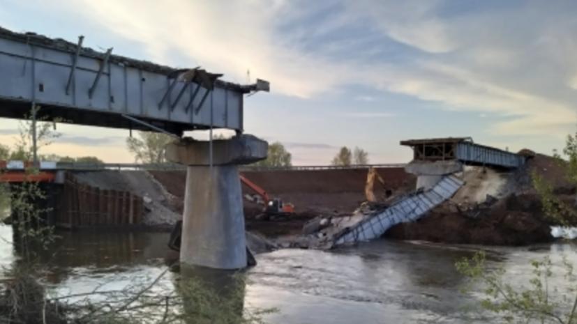 СК возбудил дело по факту обрушения пролёта моста в Оренбургской области