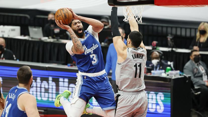 «Лейкерс» уступили «Портленду» в матче НБА и опустились в зону плей-ин