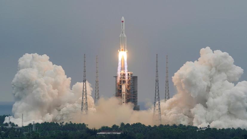 «Роскосмос» подтвердил падение части ступени китайской ракеты в океан