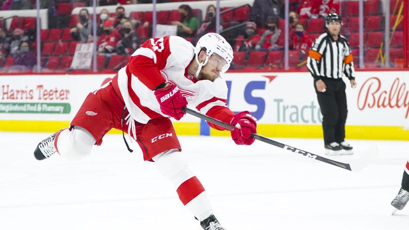 Ассист Евгения Свечникова не помог «Детройту» избежать поражения от «Коламбуса» в НХЛ