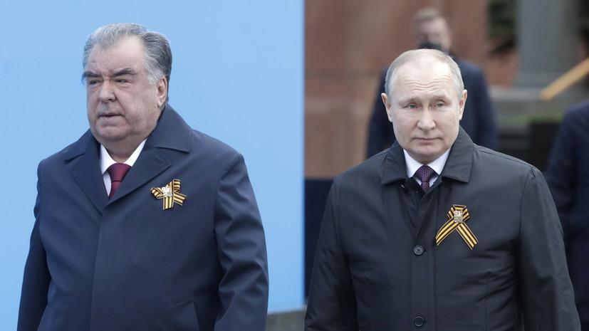 Путин и Рахмон возложили цветы к Могиле Неизвестного Солдата