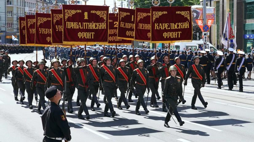 В Калининграде прошёл военный парад