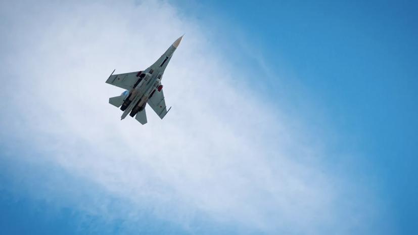 Российские Су-27 сопроводили самолёты ВВС Франции над Чёрным морем