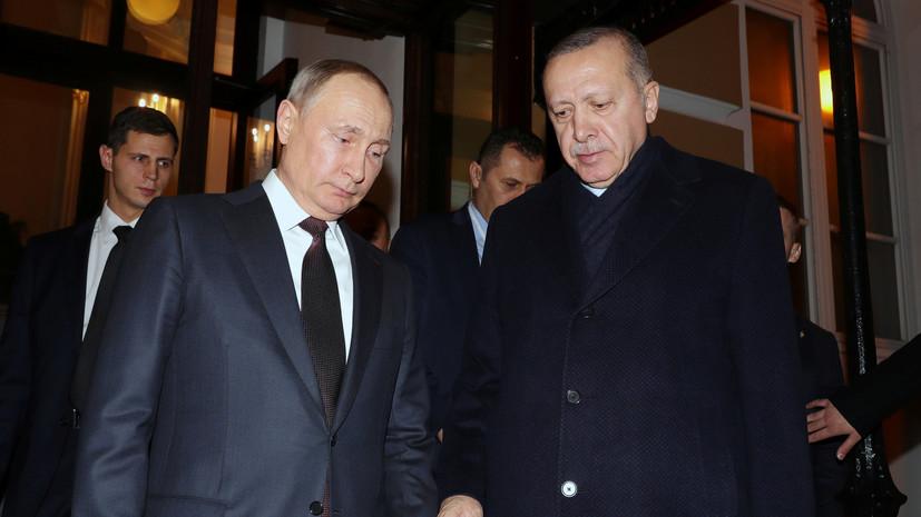 Путин и Эрдоган обсудили ситуацию в Палестине