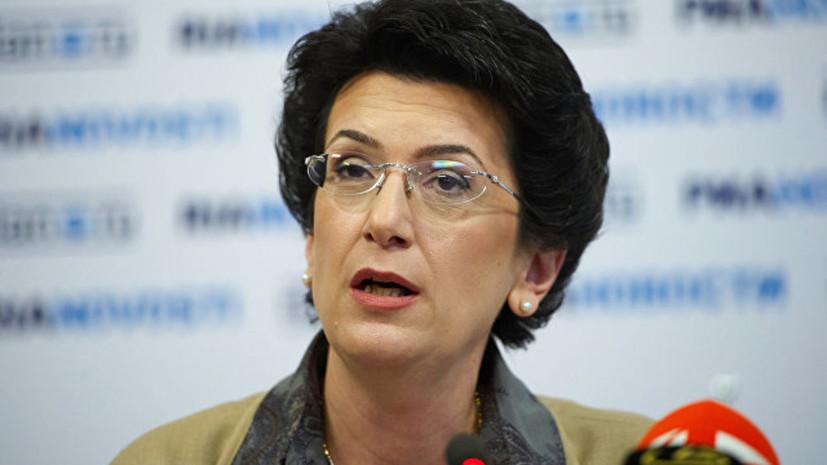 Бурджанадзе выразила соболезнования в связи с трагедией в казанской гимназии