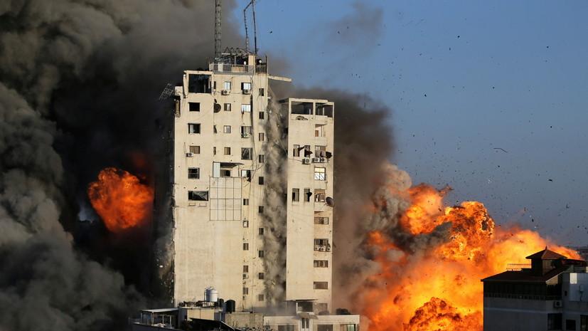 Израильская авиация нанесла удар по 14-этажному зданию в секторе Газа