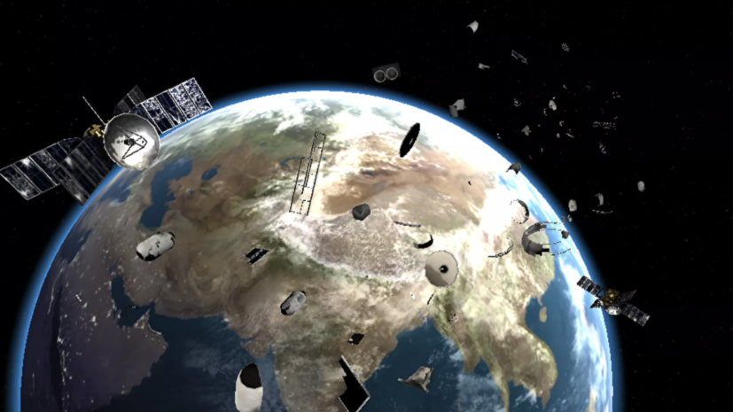 На околоземных орбитах нашли около 7 тысяч тонн космического мусора