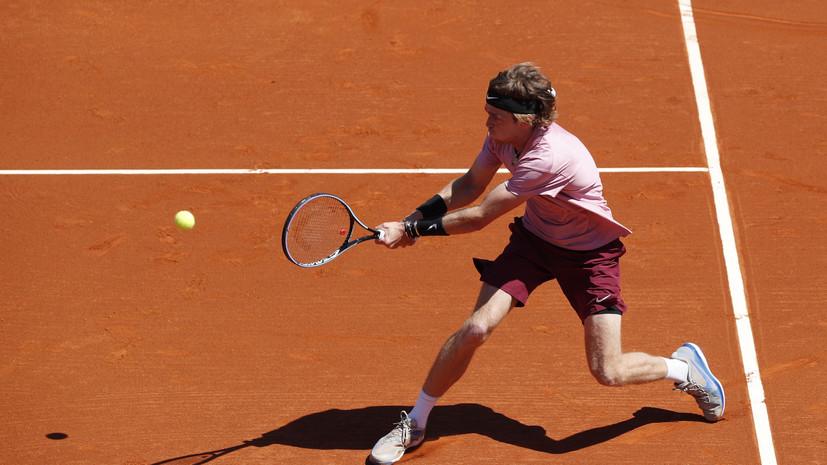 Рублёв обыграл Баутисту-Агута в матче третьего круга турнира ATP в Риме