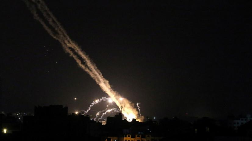 Ракета, запущенная ХАМАС в направлении израильского города Ашкелон, попала в здание