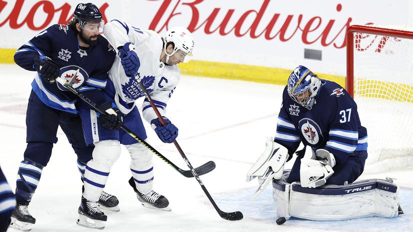 Гол и передача Михеева не спасли «Торонто» от поражения «Виннипегу» в матче НХЛ