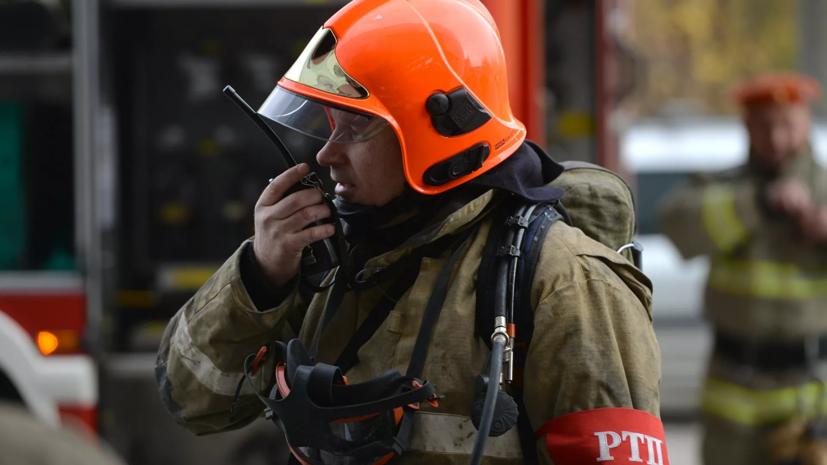 В Рязанской области произошёл пожар на свалке