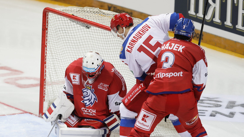 Сборная Чехии разгромила команду России в матче Еврохоккейтура