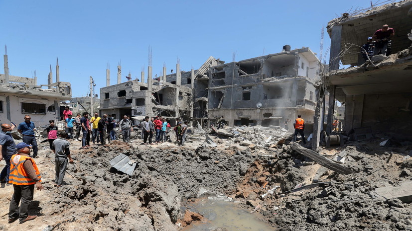 В секторе Газа заявили о разрушении здания Минтруда из-за обстрела