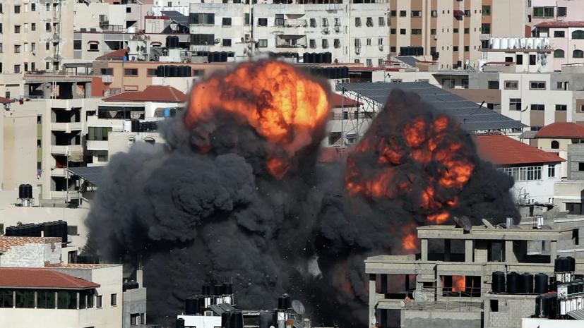 ЦАХАЛ нанес удар по шахте тоннеля ХАМАС в районе Хан-Юнис на юге сектора Газа.