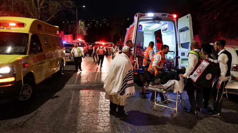 В Израиле порядка 60 человек пострадали при обрушении трибуны в синагоге