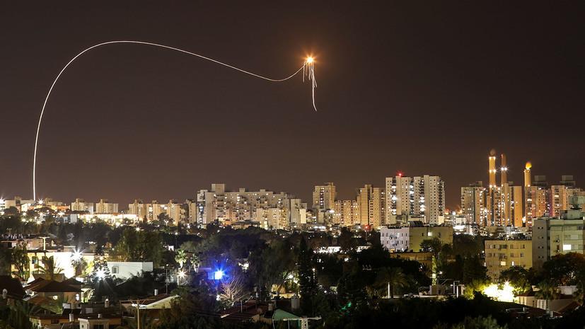 Израиль заявил о запуске 60 ракет из сектора Газа за ночь