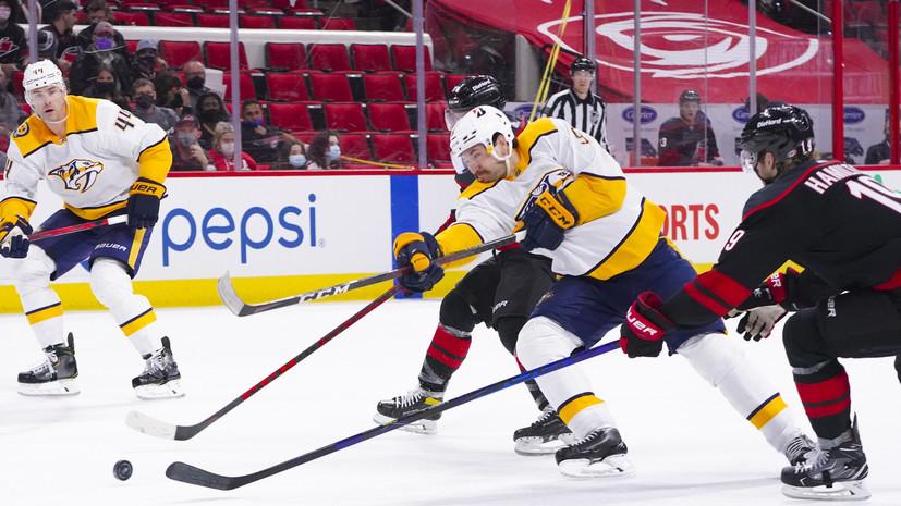Шайба Свечникова помогла «Каролине» победить «Нэшвилл» в первом матче плей-офф НХЛ