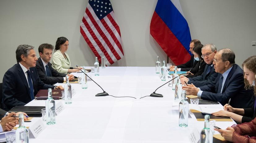 Лавров на встрече с Блинкеном призвал улучшить работу дипмиссий России и США