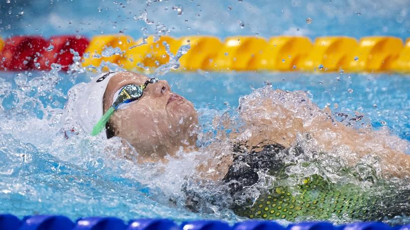 Каменева завоевала бронзу ЧЕ в повторном заплыве на 100 м на спине