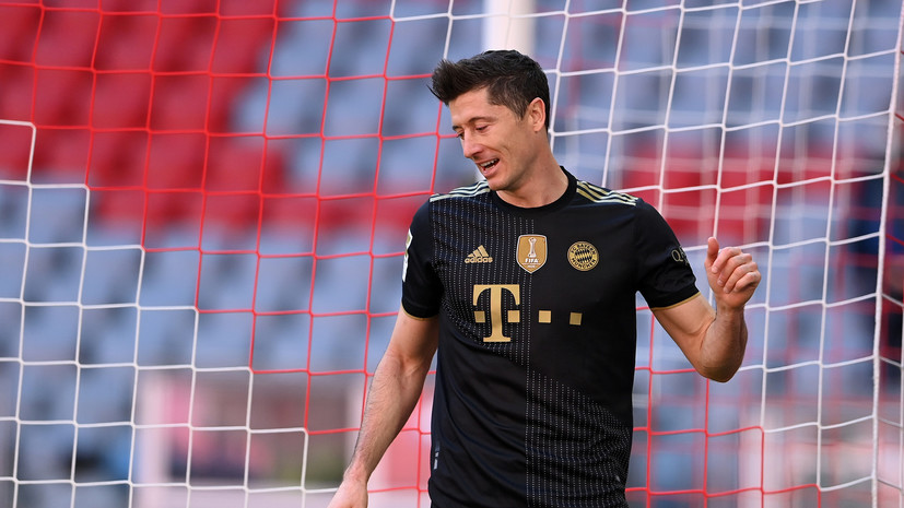 Гол Левандовски помог «Баварии» разгромить «Аугсбург» в Бундеслиге