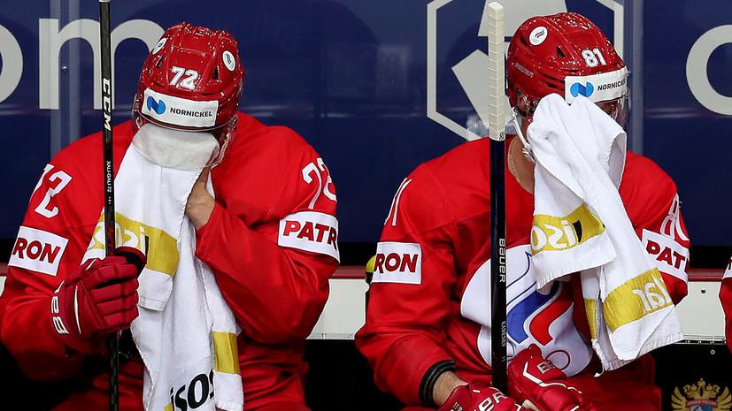 «Проблемы создаём себе сами»: Каменский и Кожевников о поражении от Словакии и игре сборной России на ЧМ-2021 по хоккею