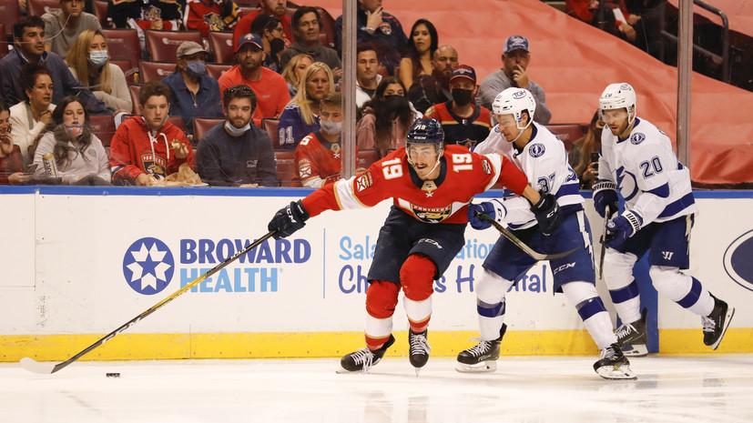 «Флорида» разгромила «Тампу» и сократила отставание в серии плей-офф НХЛ