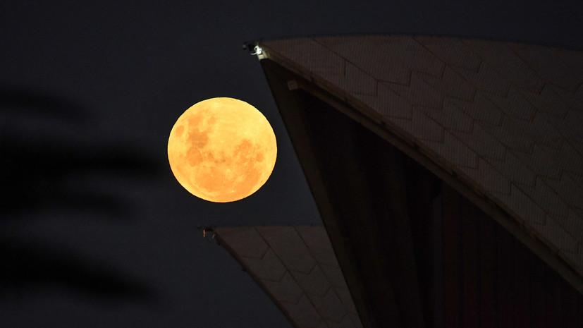 В тени Земли: суперлуние совпало с полным лунным затмением