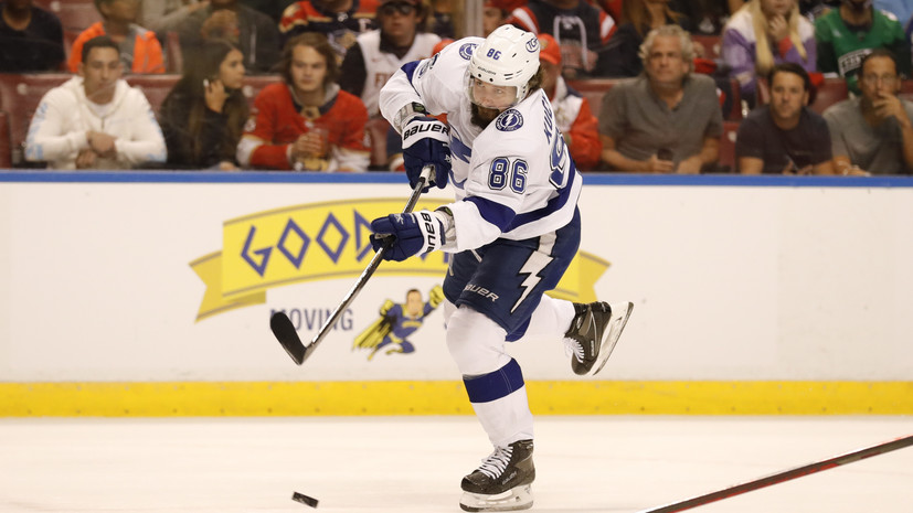 Кучеров установил рекорд «Тампы» по количеству очков в серии плей-офф НХЛ