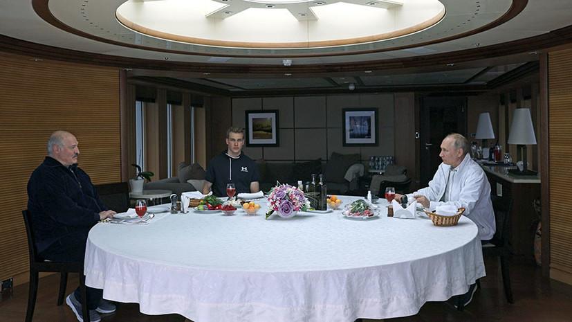 «Сегодня неформальная часть переговоров»: о чём Путин и Лукашенко говорили во второй день встречи в Сочи