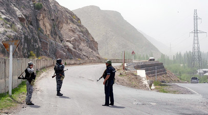 Район боестолкновений между войсками Кыргызстана и Таджикистана