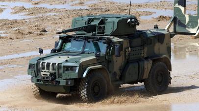 Бронированный автомобиль «Тайфун-ВДВ»  на испытаниях с 30-мм пушкой
