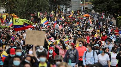 Не менее 17 человек погибли во время протестов в Колумбии