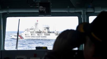 Девять человек пропали при крушении судна в Восточно-Китайском море
