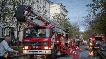 СК назвал возможную версию пожара в гостинице в Москве