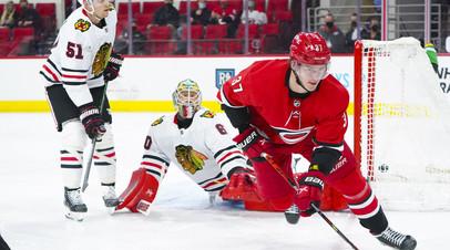 Дубль и ассист Свечникова помогли «Каролине» обыграть «Чикаго» в НХЛ