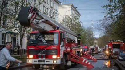 После пожара в гостинице в Москве задержаны два человека