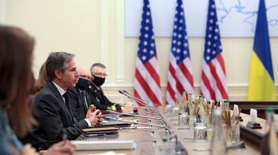 Госсекретарь США Энтони Блинкен в Киеве
